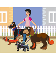 Walking of dogs vector | Price: 1 Credit (USD $1)