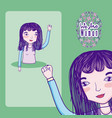 we are women cartoons vector image vector image
