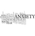 when anxiety becomes a disorder text word cloud vector image vector image