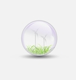 wind power bubble water clear vector image vector image