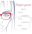 Woman in glasses Optician consept Stylish vector image vector image