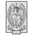 zodiac sign taurus or bull vector image
