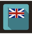 Great Britain flag icon flat style vector image
