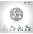 Sports outline icon vector image