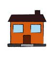 house windows door residence exterior vector image