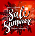 red sunset on the beach summer sale background vector image