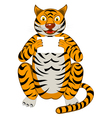 Funny Cartoon Tiger vector image