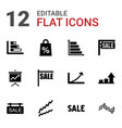 12 sales icons vector image vector image