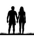 a young couple of lovers holding hands vector image vector image