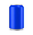 aluminum can mockup vector image