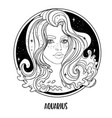 aquarius astrological sign as a vector image vector image