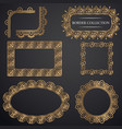 art-deco ornamental frame vector image vector image