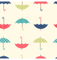Autumn seamless pattern with a flat umbrellas vector image