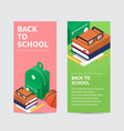 back to school isometric flyer vector image vector image