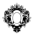 baroque mirror frame victorian ornamented vector image vector image