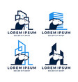 bear building construction logo set bundle icon vector image