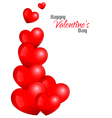 Beautiful Red Hearts Background Design vector image vector image