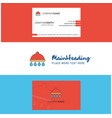 beautiful shower logo and business card vertical vector image