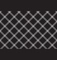 black white fabric diagonal texture seamless vector image vector image