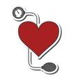 blood pressure cuff icon vector image