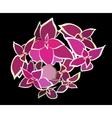 Bouquet Beautiful Pink Flower vector image vector image