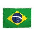 brazilian flag isolated icon vector image vector image