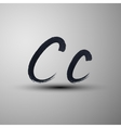calligraphic hand-drawn marker or ink letter C vector image vector image