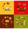 Canada flat icons set vector image