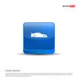 car icon - 3d blue button vector image