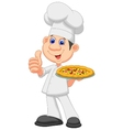 Cartoon Chef with pizza vector image vector image