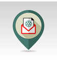 Christmas letter flat pin map icon vector image vector image