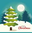 christmas tree pine card vector image