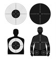 collection of different targets for shooting vector image