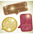 colorful bubbles for speech christmas design vector image