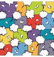 comics chatting empty cloud pattern vector image
