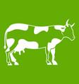 cow icon green vector image