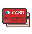 Credit card icon vector image vector image
