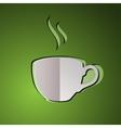 cup of tea cup logo tea vector image vector image