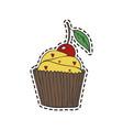 cupcake sticker vector image vector image