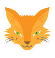 cute fox face character tattoo design for pet vector image vector image