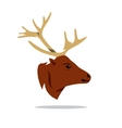 Deer Head Cartoon vector image