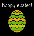easter greeting colored striped egg vector image vector image