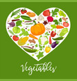 eat healthy commercial poster with tasty vector image