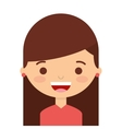 face little girl isolated icon design vector image