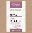 fine quality organic turkey abstract meat vector image
