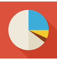 Flat Business Office Statistic Pie Graph with long vector image vector image
