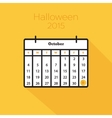 Flat holiday calendar icon vector image vector image