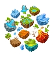 Gaming Islands And Landscape Elements Set vector image vector image