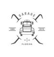 garage logotype vector image vector image