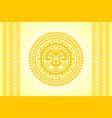 hawaiian sun sign in polynesian style vector image vector image